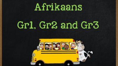 Afrikaans Grade 1 to Grade 3