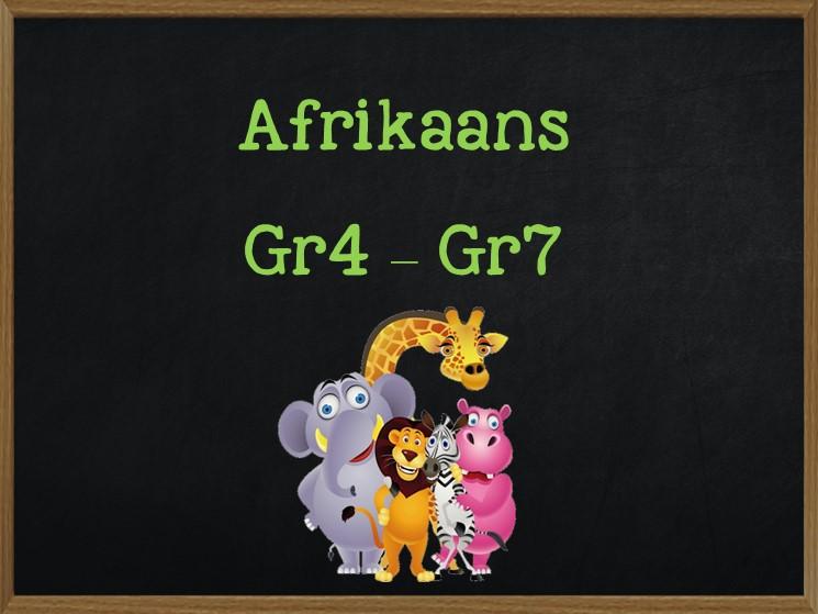 Afrikaans Grade 4 to Grade 7