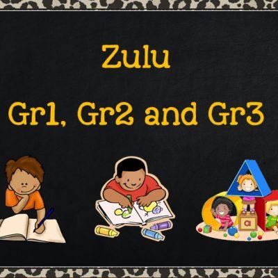 Zulu Grade 1 to Grade 3